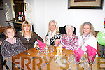 Julia Moriarty, Brosna (seated 2nd right) celebrated her 85th birthday last Saturday night in Bella Bia, Tralee, l-r: Shelia Broderick, Bernadette Canty, Mairead and Julia Moriarty with Karen Dorney.