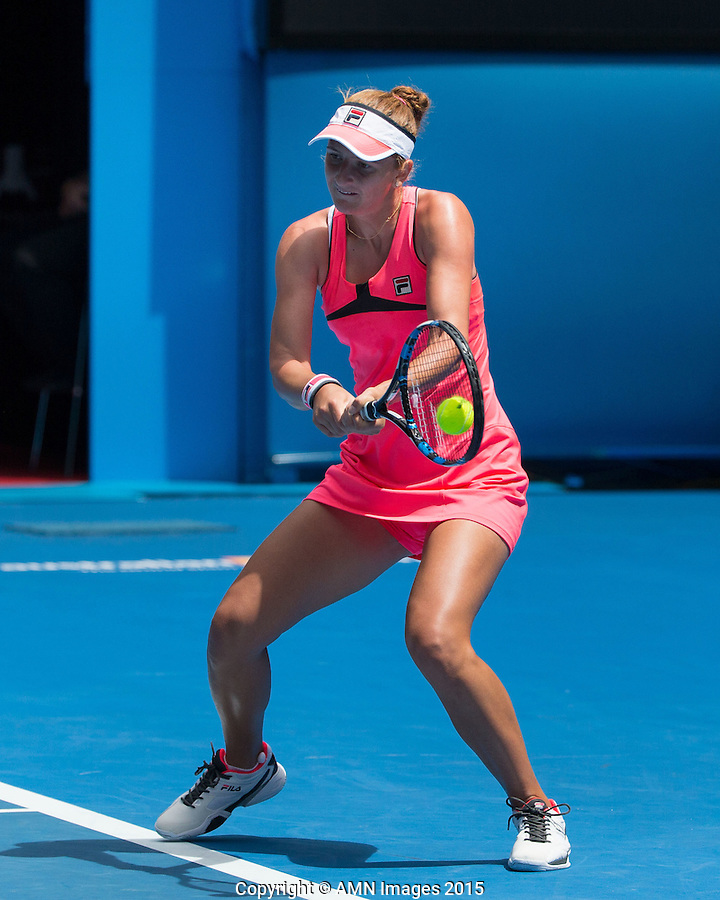 Irina-Camelia Begu (ROU)<br /> <br /> Tennis - Australian Open 2015 - Grand Slam -  Melbourne Park - Melbourne - Victoria - Australia  - 25 January 2015. <br /> &copy; AMN IMAGES