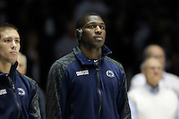 STATE COLLEGE, PA - FEBRUARY 16: Ed Ruth of the Penn State Nittany Lions stands on the mat before a match against the Oklahoma State Cowboys on February 16, 2014 at Rec Hall on the campus of Penn State University in State College, Pennsylvania. Penn State won 23-12. (Photo by Hunter Martin/Getty Images) *** Local Caption *** Ed Ruth