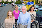 Killarney business owners Sandra Dunlea, Breda O'Connor, Pat O'Connor and Valerie O'Callaghan who are delighted that Killarney UDC is offering free parking in the Glebe car park from 9 to 11 each morning in October...
