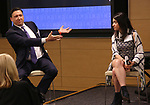 Patrick Morrow and Melanie Schnoll-Begun during An Evening Of Legacy, Philanthropy & Music For The Benefit Of The Dramatists Guild Foundation at Morgan Stanley Headquarters on May 13, 2019 in New York City.