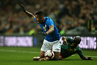 Gabriel Jesus of Brazil and Manchester City and Jeando Fuchs of Cameroon and Sochaux during Brazil vs Cameroon, International Friendly Match Football at stadium:mk on 20th November 2018