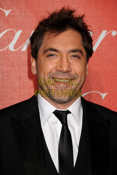 JAVIER BARDEM .2011 Palm Springs International Film Festival Awards Gala held at the Palm Springs Convention Centre, Hollywood, California, USA, .8th January 2011..portrait headshot black tie white shirt beard facial hair stubble smiling .CAP/ADM/BP.©Byron Purvis/AdMedia/Capital Pictures.