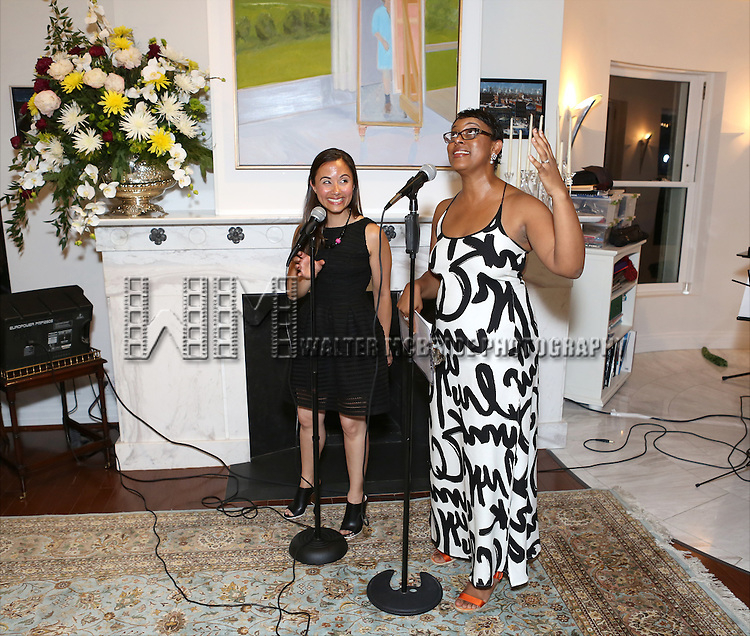 Di Ana Pisarri and Schele Williams attend 'Parlor Night' A benefit evening for The Broadway Inspirational Voices Outreach Program at the home of Roy and Jenny Neiderhoffer on June 22, 2015 in New York City.