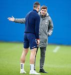 19.12.2019 Rangers training: Steven Gerrard and Nikola Katic
