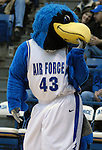 14 January 2009:  The Air Force Falcon mascot during the Falcons 57-36 loss to Mountain West Conference rival Utah at Clune Arena, U.S. Air Force Academy, Colorado Springs, Colorado.
