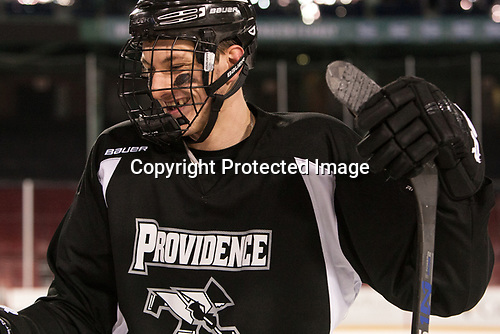 Vincent Desharnais (PC - 2) - The Providence College Friars practiced at Fenway on Friday, January 6, 2017, in Boston, Massachusetts.