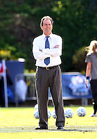 SAN DIEGO, CA - DECEMBER 02, 2012:  Coach Anson Dorrance of the University of North Carolina against Penn State University during the NCAA 2012 women's college championship match, at Torero Stadium, in San Diego, CA, on Sunday, December 02 2012. Carolina won 4-1.