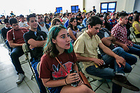 attending the conference cycle, during the first day of activities and day celebrations of the Jaguar in Alamos, Sonora 4oct2019 by Nature and Culture International Mexico (NC).<br /> (© Photo: Luis Gutierrez NortePhoto.com)<br /> asitentes al ciclo de conferencias , durante el primer dia de actividades y festejos de día del Jaguar en Alamos, Sonora 4oct2019 por Naturaleza y Cultura Internacional Mexico (NC). <br /> (© Foto:Luis Gutierrez NortePhoto.com)