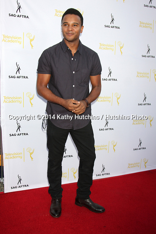 LOS ANGELES - AUG 12:  Marc Anthony Samuel at the Dynamic & Diverse:  A 66th Emmy Awards Celebration of Diversity Event at Television Academy on August 12, 2014 in North Hollywood, CA