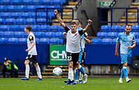 Bolton Wanderers' Dennis Politic (centre) celebrates at the end of the match<br /> <br /> Photographer Andrew Kearns/CameraSport<br /> <br /> The EFL Sky Bet Championship - Bolton Wanderers v Coventry City - Saturday 10th August 2019 - University of Bolton Stadium - Bolton<br /> <br /> World Copyright © 2019 CameraSport. All rights reserved. 43 Linden Ave. Countesthorpe. Leicester. England. LE8 5PG - Tel: +44 (0) 116 277 4147 - admin@camerasport.com - www.camerasport.com