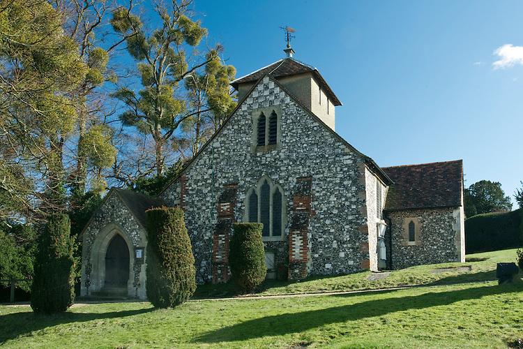 St Nicholas' Church in Hedsor near Bourne End, Buckinghamshire, Uk
