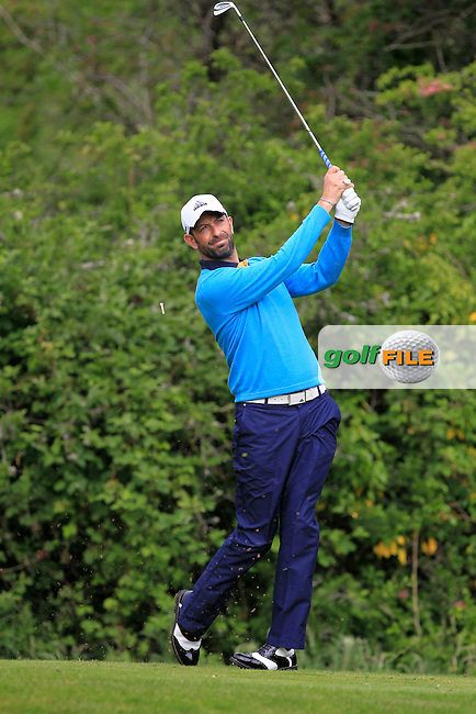 Dave O'Donovan (Muskerry) on the 2nd tee during Round 3 of the Irish Mid-Amateur Open Championship at New Forest on Sunday 21st June 2015.<br /> Picture:  Thos Caffrey / www.golffile.ie