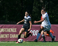 Newton, Massachusetts - September 24, 2017: NCAA Division I. Boston College (white) defeated Wake Forest University (black), 1-0, at Newton Campus Soccer Field.
