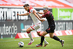 Kenan KARAMAN l. (D) im Zweikampf gegen Philipp MAX (A),  Aktion, <br /><br />Fussball 1. Bundesliga, 33.Spieltag, Fortuna Duesseldorf (D) -  FC Augsburg (A), am 20.06.2020 in Duesseldorf/ Deutschland. <br /><br />Foto: AnkeWaelischmiller/Sven Simon/ Pool/ via Meuter/Nordphoto<br /><br /># Editorial use only #<br /># DFL regulations prohibit any use of photographs as image sequences and/or quasi-video #<br /># National and international news- agencies out #