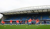 Blackburn Rovers during the pre-match warm-up <br /> <br /> Photographer Kevin Barnes/CameraSport<br /> <br /> The EFL Sky Bet Championship - Blackburn Rovers v Luton Town - Saturday 28th September 2019 - Ewood Park - Blackburn<br /> <br /> World Copyright © 2019 CameraSport. All rights reserved. 43 Linden Ave. Countesthorpe. Leicester. England. LE8 5PG - Tel: +44 (0) 116 277 4147 - admin@camerasport.com - www.camerasport.com