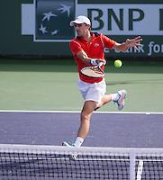 EDOUARD ROGER-VASSELIN (FRA)<br /> <br /> Tennis - BNP PARIBAS OPEN 2015 - Indian Wells - ATP 1000 - WTA Premier -  Indian Wells Tennis Garden  - United States of America - 2015<br /> &copy; AMN IMAGES