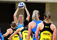 Jamie Hume looks for support during the ANZ Premiership netball match between the Central Pulse and Northern Stars at Te Rauparaha Arena in Wellington, New Zealand on Wednesday, 24 May 2017. Photo: Dave Lintott / lintottphoto.co.nz