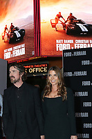 """LOS ANGELES - NOV 4:  Christian Bale, Sibi Blazic at the """"Ford v Ferrari"""" Premiere at TCL Chinese Theater IMAX on November 4, 2019 in Los Angeles, CA"""