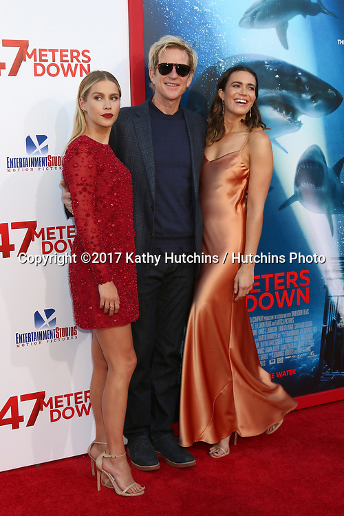 """LOS ANGELES - JUN 12:  Claire Holt, Matthew Modine, Mandy Moore at the """"47 Meters Down"""" Premiere at the Village Theater on June 12, 2017 in Westwood, CA"""