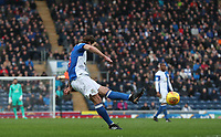Blackburn Rovers' Charlie Mulgrew scores his side's first goal  <br /> <br /> Photographer Rachel Holborn/CameraSport<br /> <br /> The EFL Sky Bet League One - Blackburn Rovers v Shrewsbury Town - Saturday 13th January 2018 - Ewood Park - Blackburn<br /> <br /> World Copyright &copy; 2018 CameraSport. All rights reserved. 43 Linden Ave. Countesthorpe. Leicester. England. LE8 5PG - Tel: +44 (0) 116 277 4147 - admin@camerasport.com - www.camerasport.com