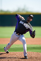 Colorado Rockies pitcher Alexander Guillen (54) during an Instructional League game against the Arizona Diamondbacks on October 7, 2016 at Salt River Fields at Talking Stick in Scottsdale, Arizona.  (Mike Janes/Four Seam Images)