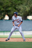 Detroit Tigers right fielder Reynaldo Rivera (35) leads off second base during an Instructional League game against the Atlanta Braves on October 10, 2017 at the ESPN Wide World of Sports Complex in Orlando, Florida.  (Mike Janes/Four Seam Images)