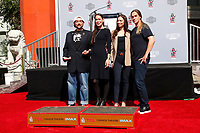 LOS ANGELES - OCT 14:  Kevin SMith, Jennifer Schwalbach Smith, Jordan Monsanto, Jason Mewes at the Kevin Smith And Jason Mewes Hand And Footprint Ceremony at the TCL Chinese Theater on October 14, 2019 in Los Angeles, CA