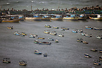 A general view shows the Gaza seaport, in Gaza city, during a winter storm, on January 17, 2019. Photo by Dawoud Abo Alkas