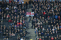 MK Dons supporters during the Sky Bet League 1 match between MK Dons and AFC Wimbledon at stadium:mk, Milton Keynes, England on 13 January 2018. Photo by David Horn.