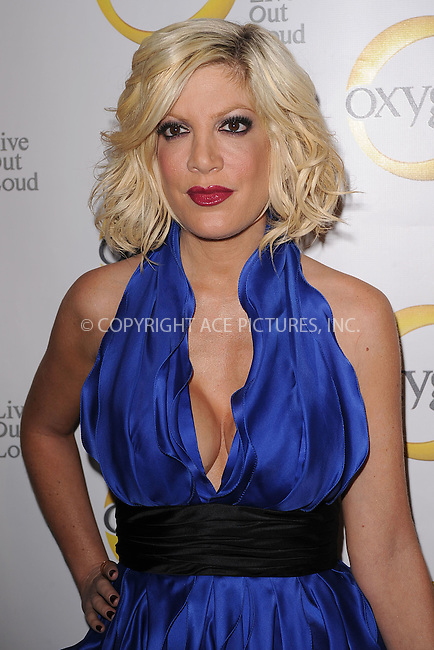 WWW.ACEPIXS.COM . . . . . .April 4, 2011...New York City...Tori Spelling attends the Oxygen Upfront Presentation on April 4, 2011 in New York City....Please byline: KRISTIN CALLAHAN - ACEPIXS.COM.. . . . . . ..Ace Pictures, Inc: ..tel: (212) 243 8787 or (646) 769 0430..e-mail: info@acepixs.com..web: http://www.acepixs.com .