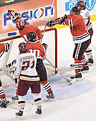 Benn Ferreiro, Steve Sanders, Adam Geragosian, NU ?, Joe Rooney - The Boston College Eagles defeated the Northeastern University Huskies 5-2 in the opening game of the 2006 Beanpot at TD Banknorth Garden in Boston, MA, on February 6, 2006.