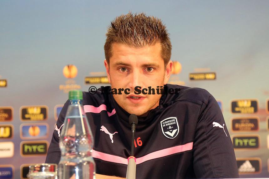 Cedric Carrasso (Bordeaux) - Pressekonferenz zur Begegnung der Europa League Eintracht Frankfurt vs. Girondins Bordeaux