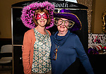 WATERBURY, CT. 13 April 2018-041318BS18 - From left, Susan Albert and Elaine Woodruff both from Wolcott pose for a photo after exiting the photo booth at the 27th Annual (TGIF) Thanks God I'm Female Women Wellness Forum put on by Waterbury Hospital at La Bella Vista on Friday evening. Bill Shettle Republican-American