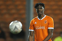 Blackpool's Armand Gnanduillet looks dejected<br /> <br /> Photographer Kevin Barnes/CameraSport<br /> <br /> Emirates FA Cup Third Round Replay - Blackpool v Reading - Tuesday 14th January 2020 - Bloomfield Road - Blackpool<br />  <br /> World Copyright © 2020 CameraSport. All rights reserved. 43 Linden Ave. Countesthorpe. Leicester. England. LE8 5PG - Tel: +44 (0) 116 277 4147 - admin@camerasport.com - www.camerasport.com