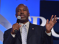 Washington, DC - September 25, 2015: Republican presidential candidate Ben Carson addresses attendees of the Values Voter Summit at the Omni Shoreham Hotel in the District of Columbia, September 25, 2015.  (Photo by Don Baxter/Media Images International)