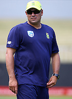 Russell Domingo of the (Head Coach South African Proteas) during the South African training and media opportunity at the Annex, Sahara Stadium Kingsmead, Durban, South Africa.30 February 2017 - (Photo by Steve Haag)