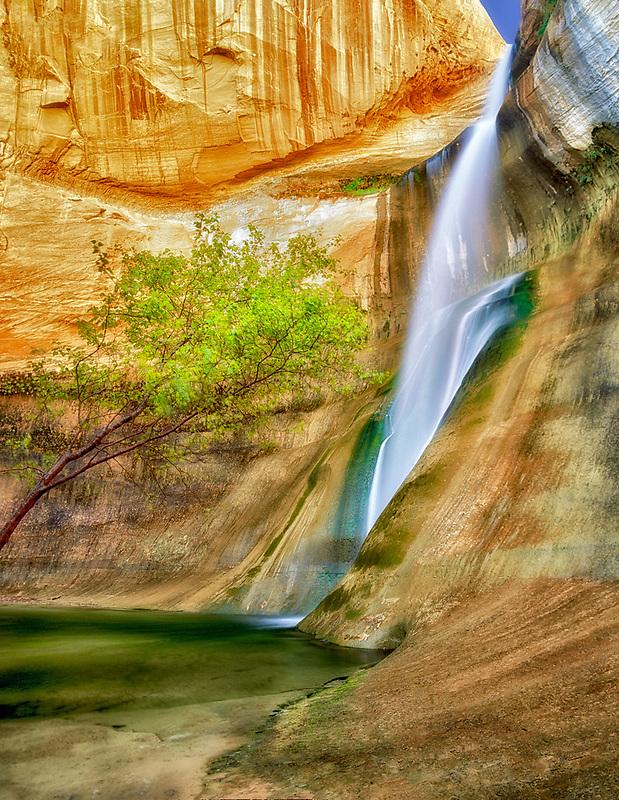 "Lower Calf Creek Falls.  ""Grand Staircase-Escalante National Monument, Utah."