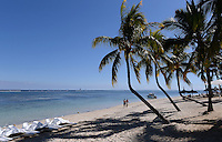 Fussball 63. FIFA Kongress auf Mauritius 2013    27.05.2013 Strand mit Plamen vor dem Sugar Beach Hotel auf Mauritius