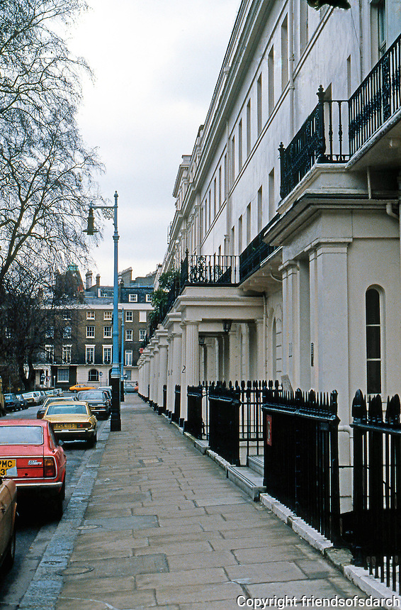 London: Eaton Square. Belgravia. Thomas Cubitt, 1827