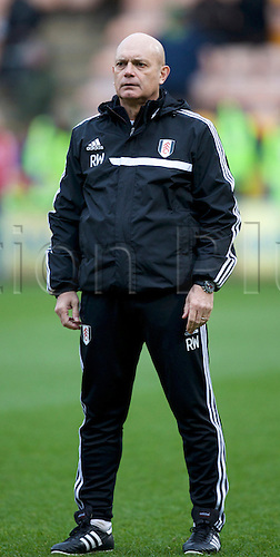 04.01.2014 Norwich, England.  Ray Wilkins the new Fulham assistant head coach before the FA Cup 3rd Round game between Norwich City and Fulham from Carrow Road.