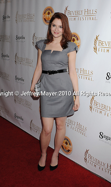 BEVERLY HILLS, CA. - April 14: Shannon Lucio  arrives at the 10th Annual Beverly Hills Film Festival Opening Night at the Clarity Theater on April 14, 2010 in Beverly Hills, California.