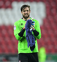 Lincoln City's Josh Vickers applauds the fans at the end of the game<br /> <br /> Photographer Chris Vaughan/CameraSport<br /> <br /> The Carabao Cup First Round - Rotherham United v Lincoln City - Tuesday 8th August 2017 - New York Stadium - Rotherham<br />  <br /> World Copyright &copy; 2017 CameraSport. All rights reserved. 43 Linden Ave. Countesthorpe. Leicester. England. LE8 5PG - Tel: +44 (0) 116 277 4147 - admin@camerasport.com - www.camerasport.com