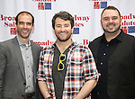 Marc Bruni, Alex Brightman and Joel Waggoner attends the 8th Annual Broadway Salutes Presentation at Shubert Alley on September 20, 2016 in New York City.
