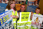 SAFETY LAUNCH: Rally Driver Aaron McHale launching the Be Safe - Be Seen Safety Campaign for Pedestrian and Cyclist at Manor West Hotel on Thursday evening l-r: Sarah Dillane, Mounthawk, Aaron McHale, Road Safety Authority and Ian Dillane, Mounthawk..   Copyright Kerry's Eye 2008