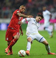 FUSSBALL  1. BUNDESLIGA  SAISON 2015/2016  24. SPIELTAG FC Bayern Muenchen - 1. FSV Mainz 05       02.03.2016 Arturo Vidal (li, FC Bayern Muenchen) gegen Jairo Samperio (re, 1. FSV Mainz 05)