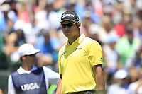 Hideki Matsuyama (JPN) on the 1st tee to start his match during Friday's Round 2 of the 117th U.S. Open Championship 2017 held at Erin Hills, Erin, Wisconsin, USA. 16th June 2017.<br /> Picture: Eoin Clarke | Golffile<br /> <br /> <br /> All photos usage must carry mandatory copyright credit (&copy; Golffile | Eoin Clarke)