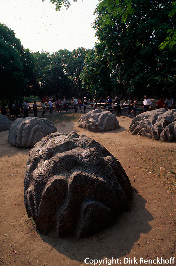 China, Peking, Himmelstempel-Park, 7-Sterne-Steine aus der Mingzeit