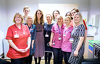 Duchess of Cambridge at Kingston Hospitals Maternity Unit