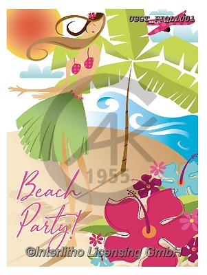 Lamont, TEENAGERS, JUGENDLICHE, JÓVENES, paintings+++++,USGTFIQL1001,#j#, EVERYDAY,beach,hawaii